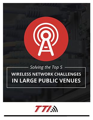 wireless network large public venue